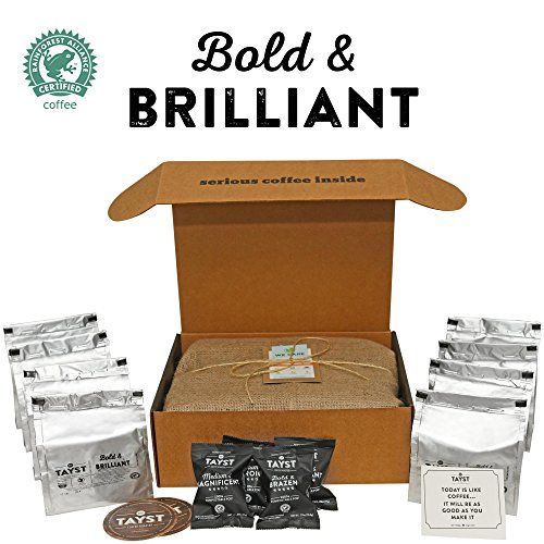 Tayst Coffee Pods   100 ct. Bold & Brilliant   100% Compostable Keurig K-Cup compatible   Gourmet Coffee in Earth Friendly packaging