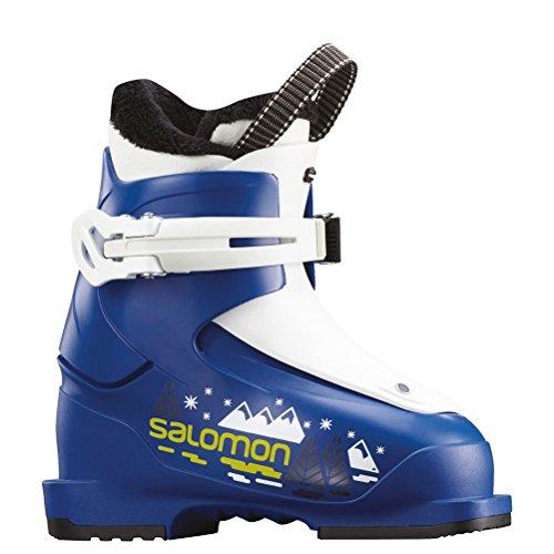 (Salomon T1 Kids Ski Boots 2019-16.0/Race Blue-White)