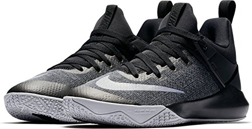 Women's Nike Zoom Shift Basketball Shoe Black/Chrome/Wolf Grey Size 7 M US by NIKE