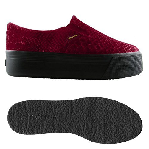 Superga Superga 2314-VELVETSNAKEMETW FULL RED BORDEAUX