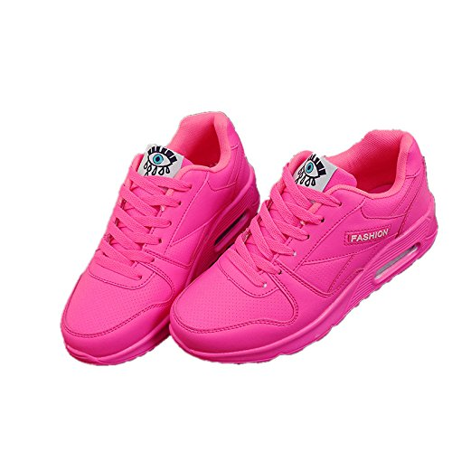 Hasag Zapatos de Primavera y Verano para Estudiantes nuevos Zapatos Deportivos de Mujer Zapatos Planos para Correr Ocasionales Zapatos Deportivos A pink