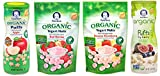 yogurt bites organic - Gerber Organic Healthy Baby Food Bundle - Veggie Puffs and Yogurt Melts