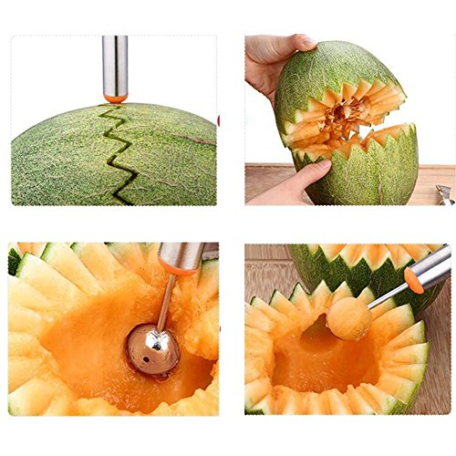 heaven2017 Fruit Melon Carving Spoon Stainless Steel Baller Digging Tools (Random Color) by heaven2017 (Image #6)
