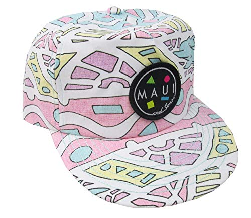Maui & Sons Men's No Duh Flip up Snapback Hat (White, One ()