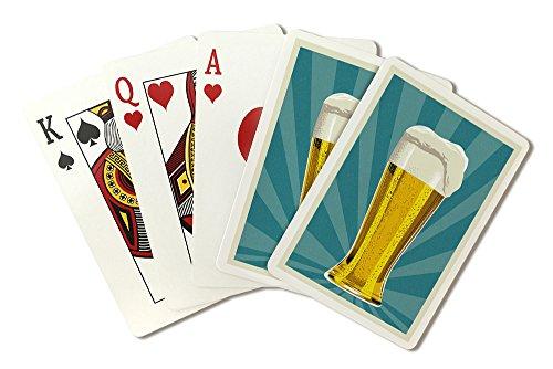 Poker Pilsner Glass - Pilsner Glass - Letterpress (Playing Card Deck - 52 Card Poker Size with Jokers)