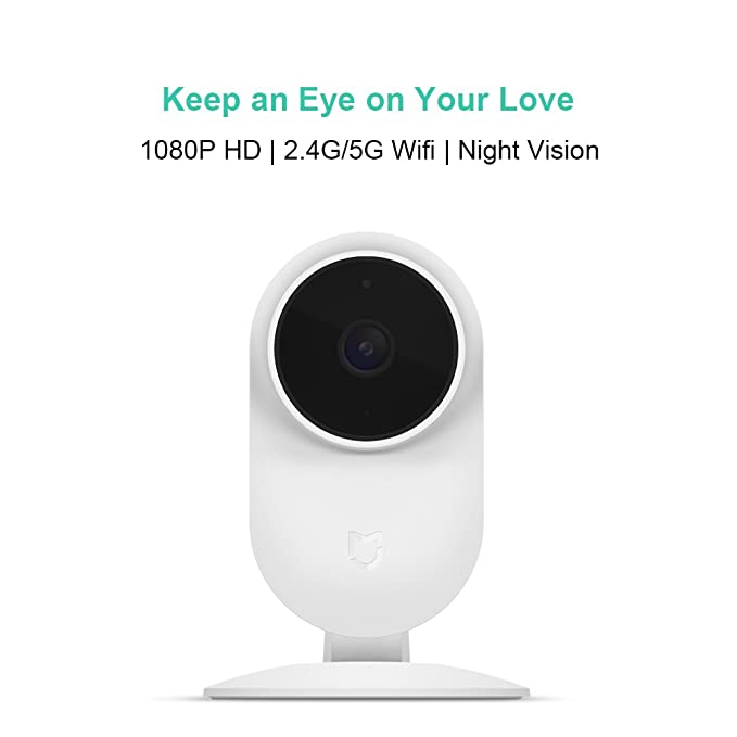 Mi Home Security Camera, Xiaomi HD 1080P 2.4G/5G WiFi Smart IP Security Surveillance System for Baby Pet Indoor Monitor, Night Vision, Two Way Audio