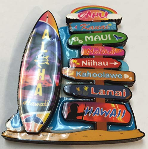 Chiefly Hawaii Designs Name Sample (Refrigerator Name Magnets)