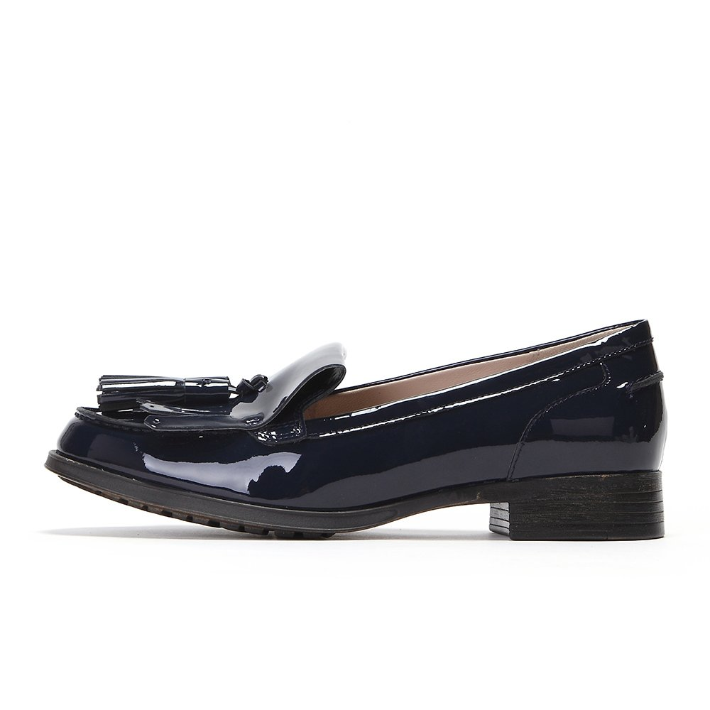 1b21b597b189 Clarks Women s Busby Folly Patent Blue Leather Pumps - 7 UK India (41 EU)   Buy Online at Low Prices in India - Amazon.in