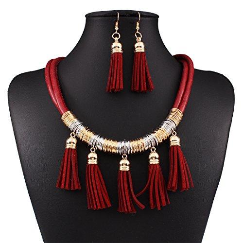 Kissweet Bohemian Necklace Earrings Multilayer