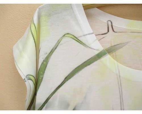 Acvip Avec Polyester Fille Manche Femme Gilet Blouse shirt Eté Courte T Mode Faon Top Et rxwrI6qA