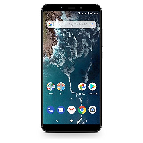 Xiaomi Mi A2 64GB + 4GB RAM, Dual Camera, LTE AndroidOne Smartphone - International Global Version (Black)