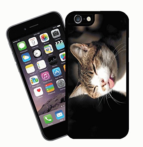 Cat phone case, design 1 - This cover will fit Apple model iPhone 7 (not 7 plus) - By Eclipse Gift Ideas
