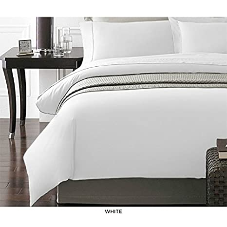 Full//Queen White Spirit Linen Hotel 5Th Ave New York Collection 3-Piece Luxurious Ultra Soft Duvet Cover with Pillow Cases