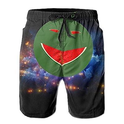 Nice Personalized Watermelon Cartoon Logo Pattern Shorts For Mens Elastic Waist Pockets Lightweight Beach Shorts Boardshort