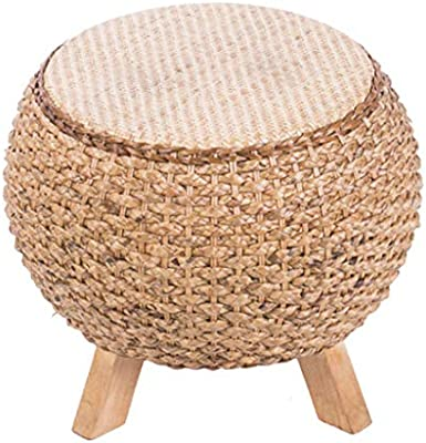 Brilliant Amazon Com Home Sitting Stool Straw Footstool Creative Gamerscity Chair Design For Home Gamerscityorg