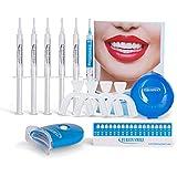 Advanced Teeth Whitening Kit with 8LED Accelerator Light 5x Whitener Gel Syringe 1x Blue Remineralization Gel for Sensitive Teeth