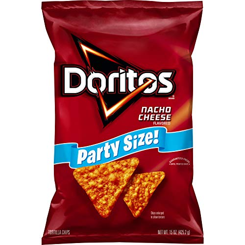 Image of Doritos, Nacho Cheese Flavored Tortilla Chips Party Size, 15 oz