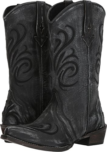 Roper Women's Olivia Black Sanded Leather Vamp 8.5 M US ()