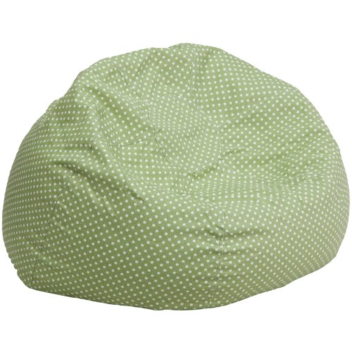 Flash Furniture Oversized Green Dot Bean Bag Chair ()