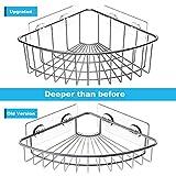 SMARTAKE 2-Pack Corner Shower Caddy Deep Basket
