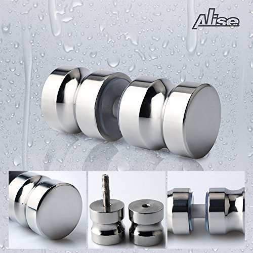 Alise L5000 SUS304 Stainless Steel Solid Bathroom Round Back-to-Back Shower (Shower Door Handle)