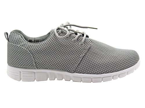 Comfy Shoes Jogging Celebrity Grey Trainers Gym Running Flat Lace Ladies Sports Creeper Retro Size Womens Laces Sneaker qC4zwwxO