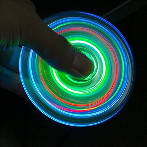 5 Pack LED Light Fidget Spinner Stress Relief Anxiety Toys Best Autism Fidgets spinners for Adults Children Finger Toy with Bearing Focus Fidgeting Restless Colorful Hand Spin Party Favor by Akimoom