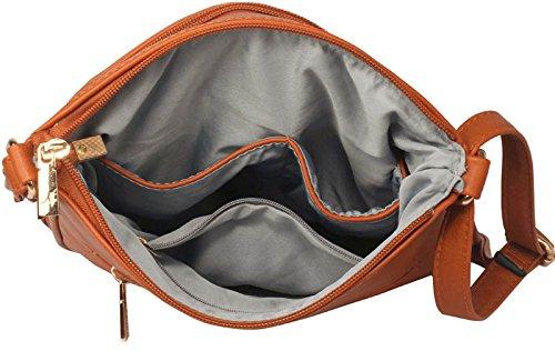 Bolsas Diseñador Imitación Cuero Para Del Del De Hombro Para De 1 Mujer Cadáveres Crossbody Mensajero Brown Cruzan Diseño De Damas 65wxpqBTx