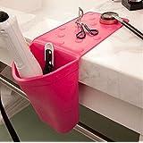 Skyseen Silicone Hair Iron Holder Curling Iron Holder Hair Brush Holder Bathroom Kitchen Storage Organizer (Random Color)