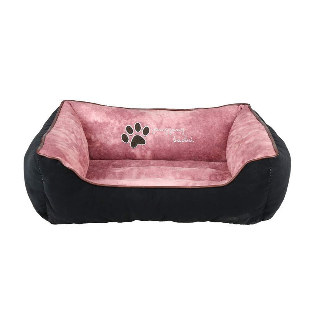 Black Large Black Large JFRI dog bed Dog sofa bed deerskin thickening to increase pet litte