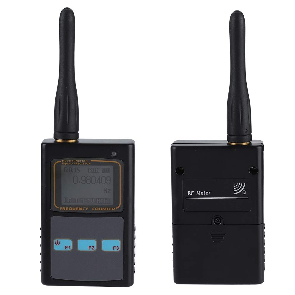 fosa Handheld 10HZ-100M / 50MHZ-2.6GHZ Dual Band Frequency Measurement Meter Gauge Radio with 9-Digit LCD Display and UHF Antenna