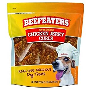 Amazon.com : Beefeaters Jerky Curl Chicken Dog Treats