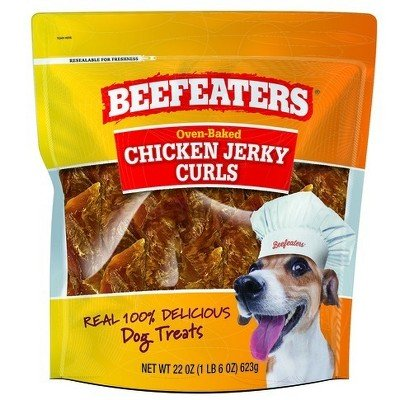 Beefeaters Jerky Curl Chicken Dog Treats - 22oz