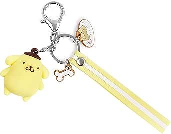 EOGAIL Cartoon Pompompurin Keychain Accessories Doll Pendant Anime Keychain Cute Doll Keyring Ornaments Small Gift (Pompompurin)