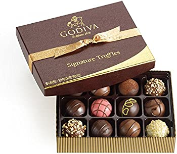 12-Pc Godiva Chocolatier Signature Chocolate Truffles Gift Box