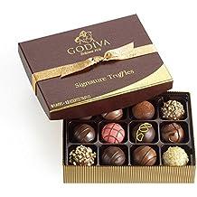 Godiva Chocolatier Signature Chocolate Truffles, 12 Piece Valentines Day Gift Box