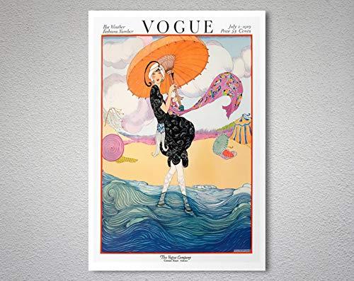 Vogue Magazine Cover July 1, 1919 Vintage Vogue Poster - Poster Print, Sticker or Canvas Print/Gift Idea 40x60Cm Frame