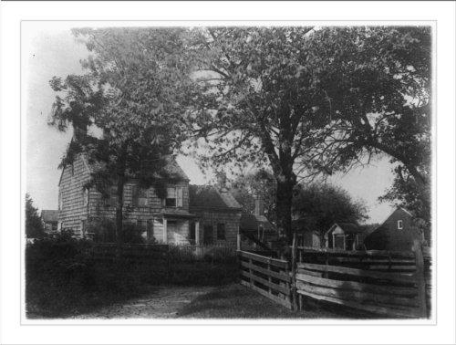 Historic Print (L): [Birthplace of Walt Whitman, Huntington, - Walt Whitman Huntington