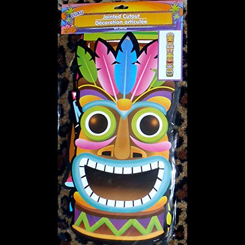 Life Size Jointed Tropical TIKI TOTEM Luau Party Voodoo Wall Door Decoration-5ft ()