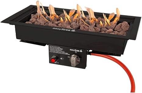 Easyfires – Quemador de Gas 50 x 25 cm para Mesa de Fuego ...