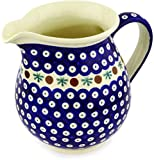 Polish Pottery 56 oz Pitcher (Mosquito Theme) + Certificate of Authenticity