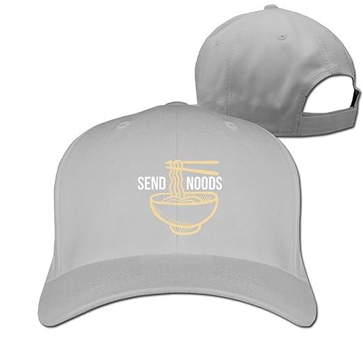 dac4baa1c38a4 Amazon.com  Send Noods Ramen Noodles Solid Travel Cap Baseball Cap Sport  Hats for Men and Womens  Clothing