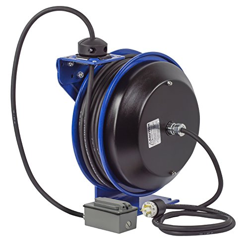 Coxreels EZ-PC13-5012-F Safety Series Spring Rewind SJO Power Cord Reel, 115 Volts, 20 Amp, 50' Length by Coxreels (Image #5)