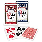 Bicycle Large Print Playing Cards (Colors May Vary)