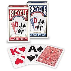 Bicycle 1026098  Large Print Playing Cards