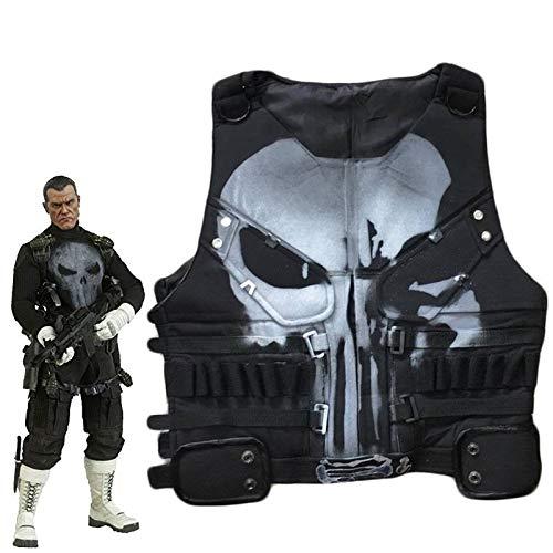 MotorCycle Jacket Punisher Man Cosplay Superhero Leather Halloween