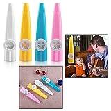 OFKPO Set of 8 Pcs Fun Colorful Plastic Kazoos Kids Party Gift Kid Kazoo Musical Instruments