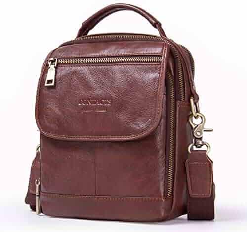 a21a87e88153 GROSSARTIG Casual Multifunctional Leather Shoulder Bag Men s Messenger Bag  Fashion Leather Men s Bag (Color
