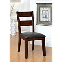 Furniture of America Dallas Transitional Dining Chair, Dark Cherry, Set of 2