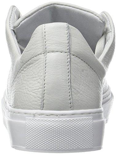 Zapatillas white Lace Weiß Leather Up Bianco Para Mujer Hidden qF8IEwZ